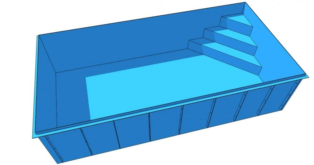ПНД бассейн с римской лестницей